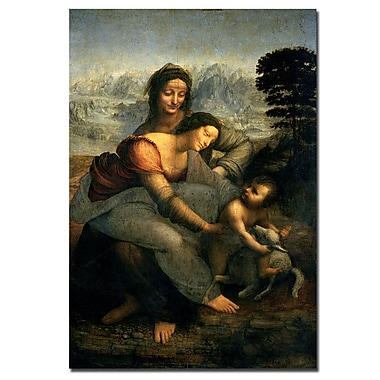 Trademark Fine Art Leonardo da Vinci 'Virgin and Child with St. Anne' Art 14x19 Inches