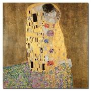 Trademark Fine Art Gustav Klimt 'The Kiss 1907-8' Canvas Art