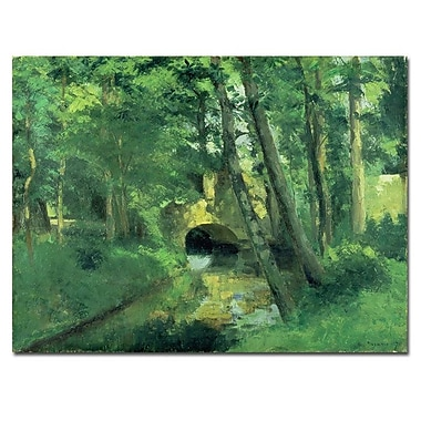 Trademark Fine Art Camille Pissarro 'The Little Bridge-Pontoise-1875' Canva