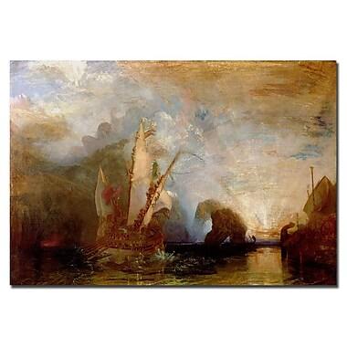Trademark Fine Art Joseph Turner'Ulysses Deriding Polyphemus, 1829' Canvas Art