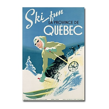 Trademark Fine Art Skiing in Quebec 1938' Canvas Art 30x47 Inches
