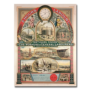 Trademark Fine Art National Union Gas and General Labourers 1889' Canvas Art