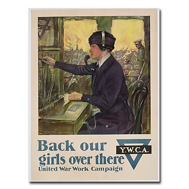Trademark Fine Art Clarence Underwood 'Back Our Girls Over There 1918' Canvas