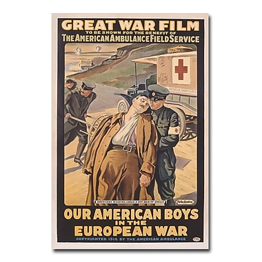 Trademark Fine Art Victor Tardieu 'Our American Boys in the European War' Art