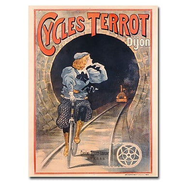 Trademark Fine Art Cycles Terrot 1900' Canvas Art