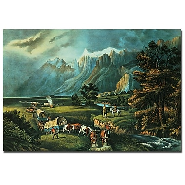 Trademark Fine Art N.Currier 'Emmigrants Crossing the Plains' Canvas Art