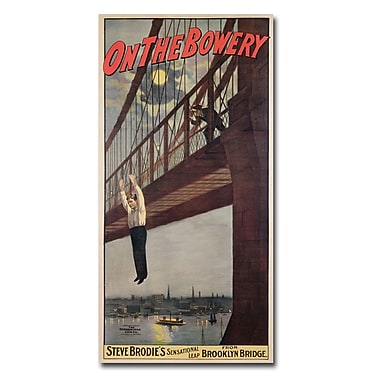 Trademark Fine Art 'Steve Brodie's Leap from the Brooklyn Bridge' Canvas Art 12x24 Inches