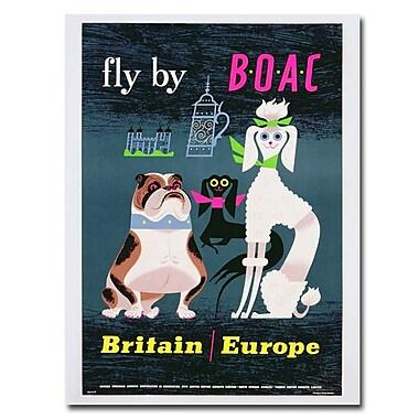 Trademark Fine Art British Overseas Airways 1962' Canvas Art