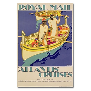 Trademark Fine Art Kenneth Shoesmith 'Atlantis Cruises 1930' Canvas Art