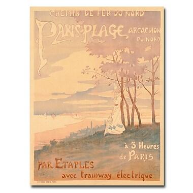 Trademark Fine Art 'Trains to Paris-Plage 1899' Canvas Art