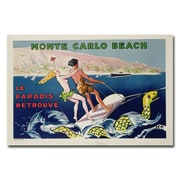 Trademark Fine Art Georges Goursat 'Monte Carlo Beach 1932' Canvas Art