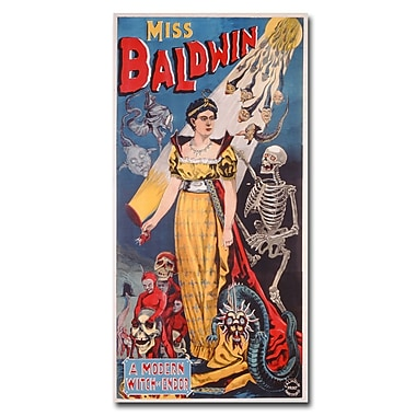 Trademark Fine Art 'Miss Baldwin A Modern Witch of Endor 1888' Canvas Art 12x24 Inches
