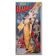 Trademark Fine Art Miss Baldwin A Modern Witch of Endor 1888' Canvas Art 16x32 Inches