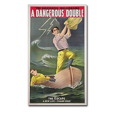Trademark Fine Art 'A Dangerous Double 1899' Canvas Art 14x24 Inches