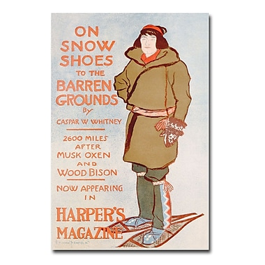 Trademark Fine Art Caspar Whitney 'On Snow Shoes 1899' Canvas Art