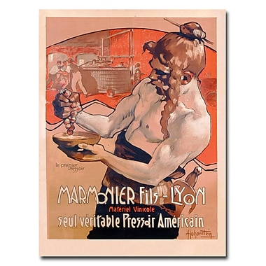 Trademark Fine Art Adolf Hohenstein 'Marmonier Fils-Lyon 1910' Canvas Art