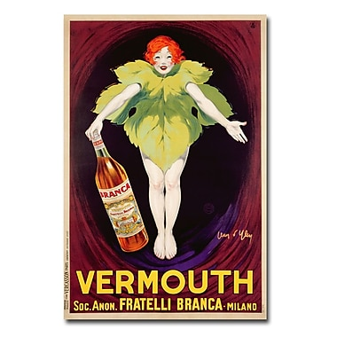 Trademark Fine Art Jean d'Ylen 'Fatelli Branca Vermouth 1922' Canvas Art