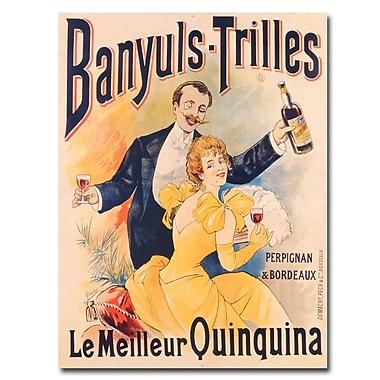 Trademark Fine Art Banyuls-Trilles Quinquina 1898' Canvas Art