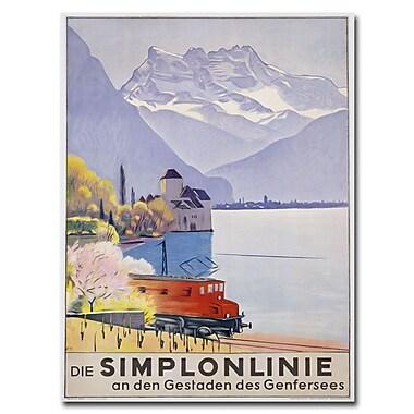 Trademark Fine Art Emil Cardinaux 'Die Simplonline' Canvas Art