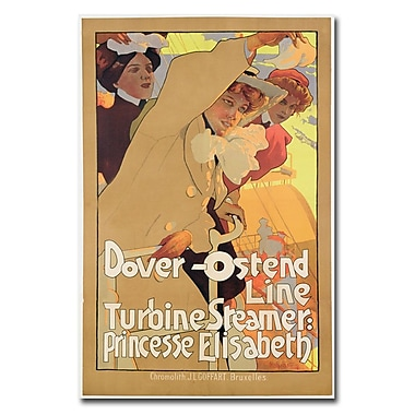 Trademark Fine Art Adolf Hohenstein 'Fover-Ostend Line 1900' Canvas Art 22x32 Inches