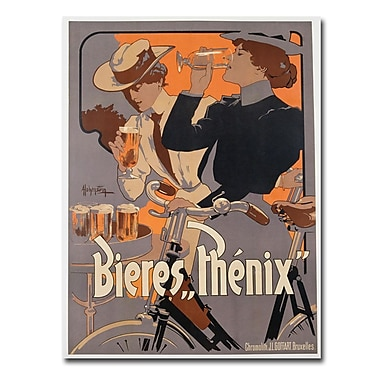 Trademark Fine Art Adolf Hohenstein 'Phoenix Beer 1899' Canvas Art 35x47 Inches