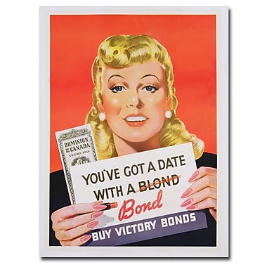 Trademark Fine Art 'You've got a Date with a Bond' Canvas Art 35x47 Inches