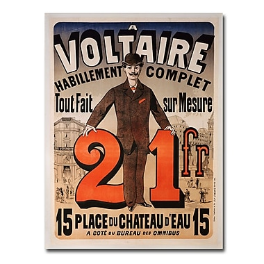 Trademark Fine Art Jules Cheret 'A Voltaire 1877' Canvas Art