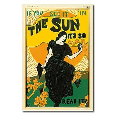 Trademark Fine Art Louis Rhead 'The Sun Newspaper 1895'