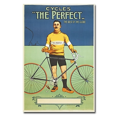Trademark Fine Art The Perfect Bicycle 1895' Canvas Art 22x32 Inches
