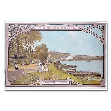 Trademark Fine Art Luigi Loir 'Chemins de Fer d'Orleans 1910' Canvas Art