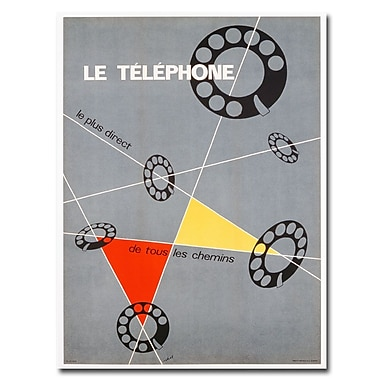 Trademark Fine Art Choi 'Le Telephone 1937' Canvas Art