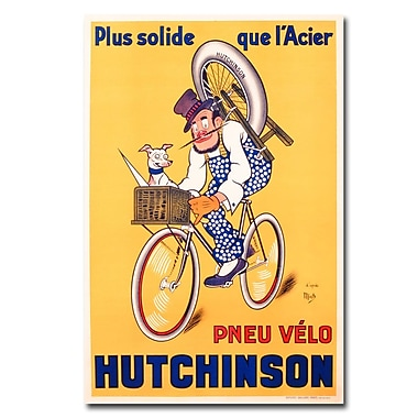 Trademark Fine Art Mitch Liebeaux 'Hutchinson Tires 1937' Canvas Art 22x32 Inches