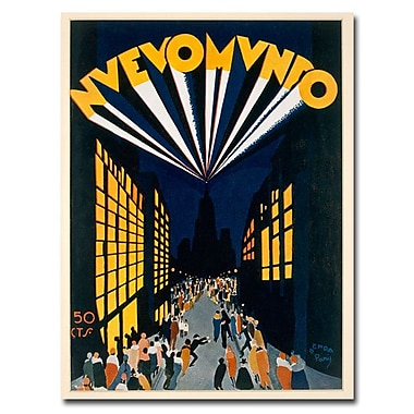 Trademark Fine Art Ochoa 'Nuovo Mondo Tadio City 1928'