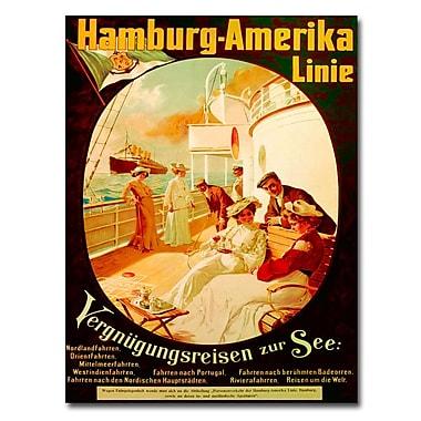 Trademark Fine Art Felix Schwormstadt 'Pleasure Cruise on the Sea 1904' Canvas