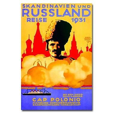 Trademark Fine Art Sigmund von Kuchodolski 'Scandinavia & Russia Cruises' Art 22x32 Inches