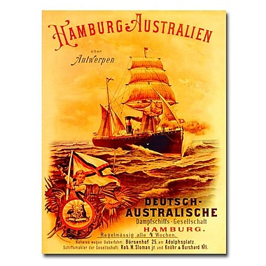 Trademark Fine Art Hamburg-Australia 1889' Canvas Art