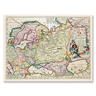 Trademark Fine Art Map of Asia Minor c. 1626' Canvas Art 14x19 Inches