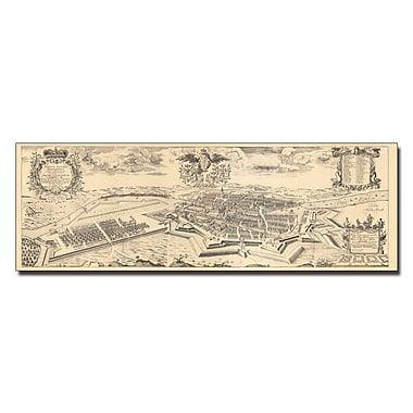 Trademark Fine Art Schultz 'Map of Berlin and Coelln 1688' Canvas Art 6x19 Inches