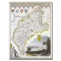 Trademark Fine Art 'Map of Cumberland c. 1836' Canvas Art