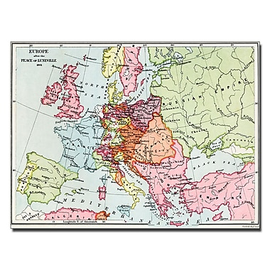 Trademark Fine Art Europe After the Peace of Luneville 1801' Canvas Art 18x24 Inches