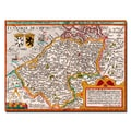 Trademark Fine Art Johannes Bussemacher 'Map of Flanders' Canvas Art