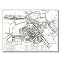 Trademark Fine Art Wenceslaus Hollar 'Map of Oxford 1643' Canvas Art