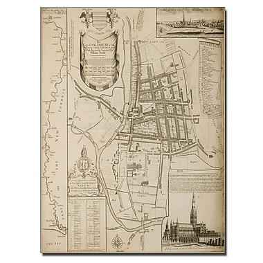 Trademark Fine Art William Nash 'Map of Salisbury 1751' Canvas Art 14x19 Inches