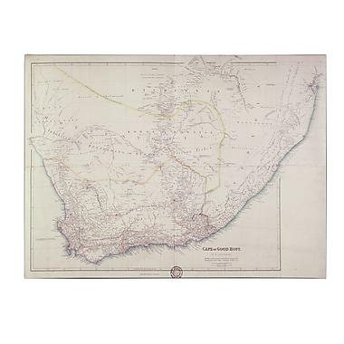 Trademark Fine Art John Arrowsmith Map of Southern Africa 1834 Canvas Art 14x19 Inches