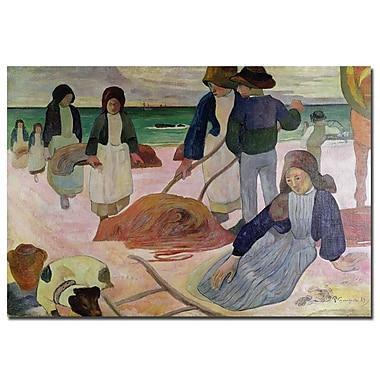 Trademark Fine Art Paul Gauguin 'Seaweed Gatherers, 1889' Canvas Art