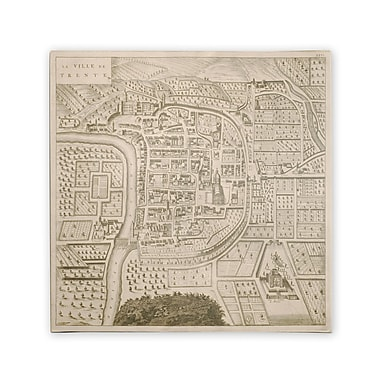 Trademark Fine Art Pierre Mortier 'Map of Trento 1704' Canvas Art 24x24 Inches
