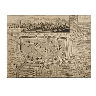 Trademark Fine Art Pierre Mortier 'Map of Treviso 1704' Canvas Art 14x19 Inches
