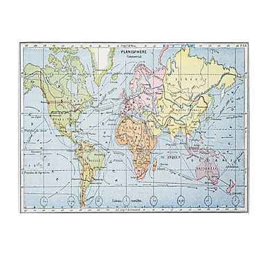 Trademark Fine Art Map of Principal World Trade Routes 1912' Canvas Art