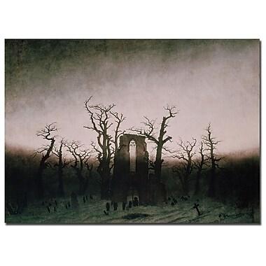 Trademark Fine Art Caspar Friedrich 'Abbey in Oakwood, 1810' Canvas Art