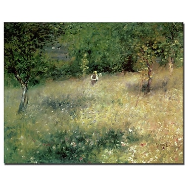 Trademark Fine Art Pierre Renoir 'Spring at Catou 1872-5' Canvas Art Ready to 24x32 Inches